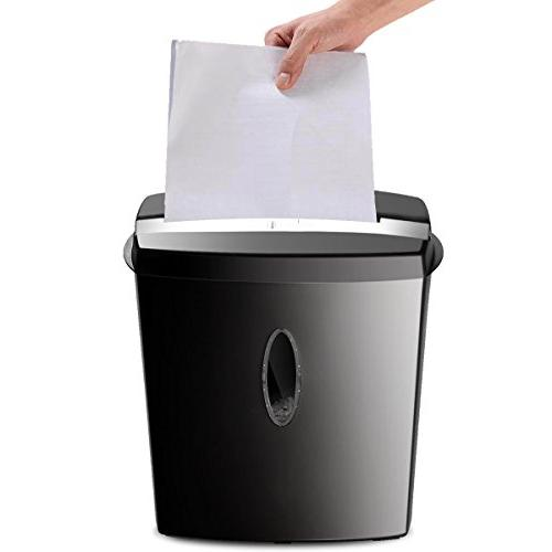 Giantex 10 Sheet Paper Credit Card Shredder with Home