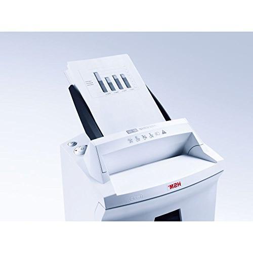 HSM Micro-cut Shredder paper feed; shreds to 150 9