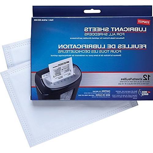 Staples? Shredder Lubricant 12/pk, Shredder