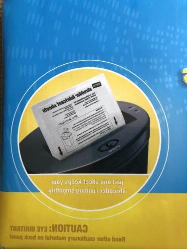 Staples? Shredder Lubricant Sheets 12/pk, Shredder Sheets