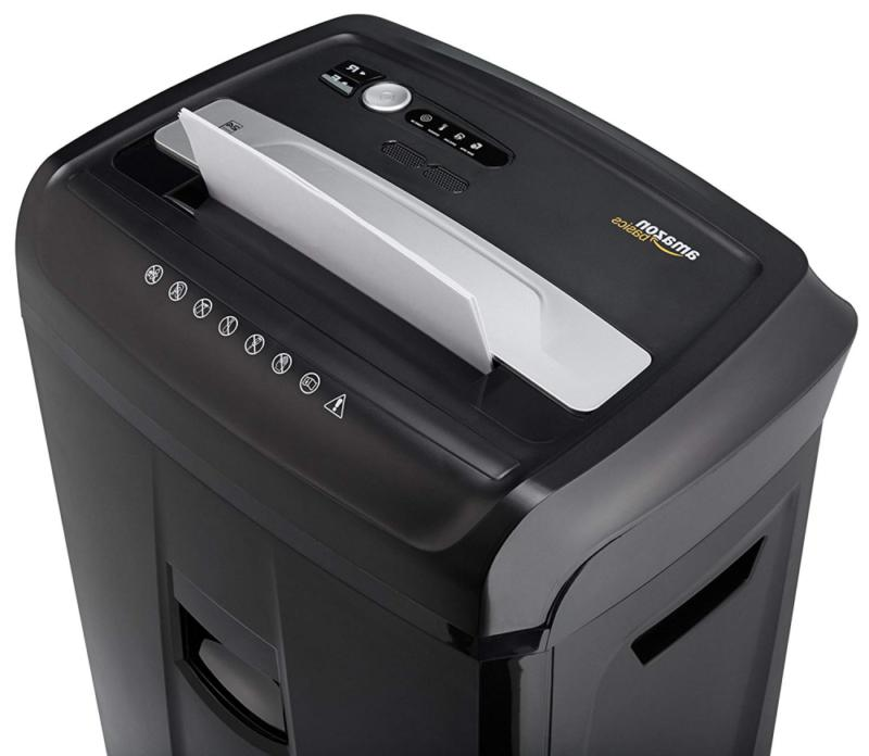 AmazonBasics CD, and Credit Shredder with Pullout