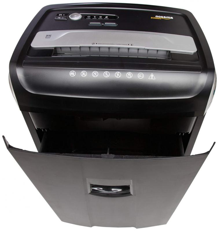 AmazonBasics CD, Credit Card Shredder with Pullout