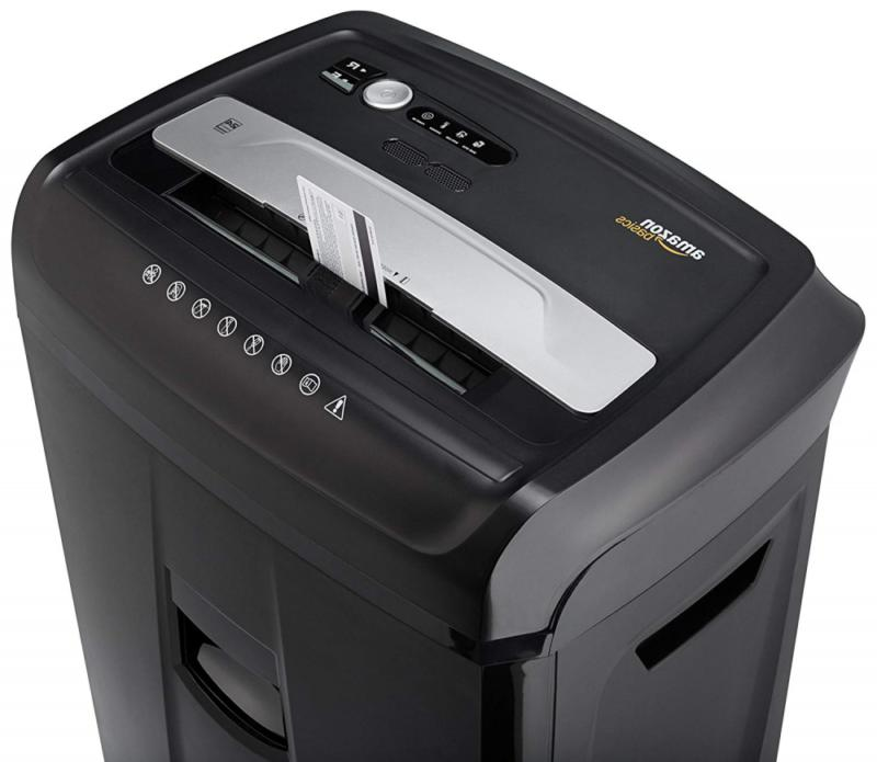 AmazonBasics CD, and Card Shredder with