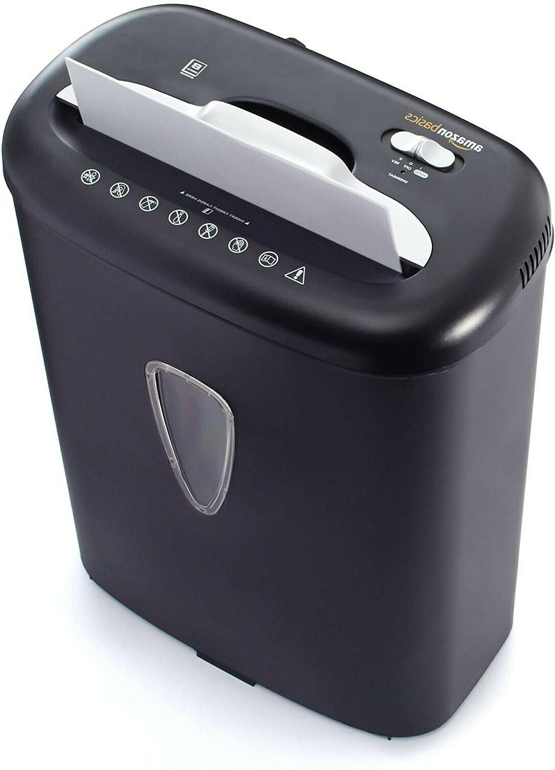 AmazonBasics 8-Sheet Capacity, Paper Shredder,