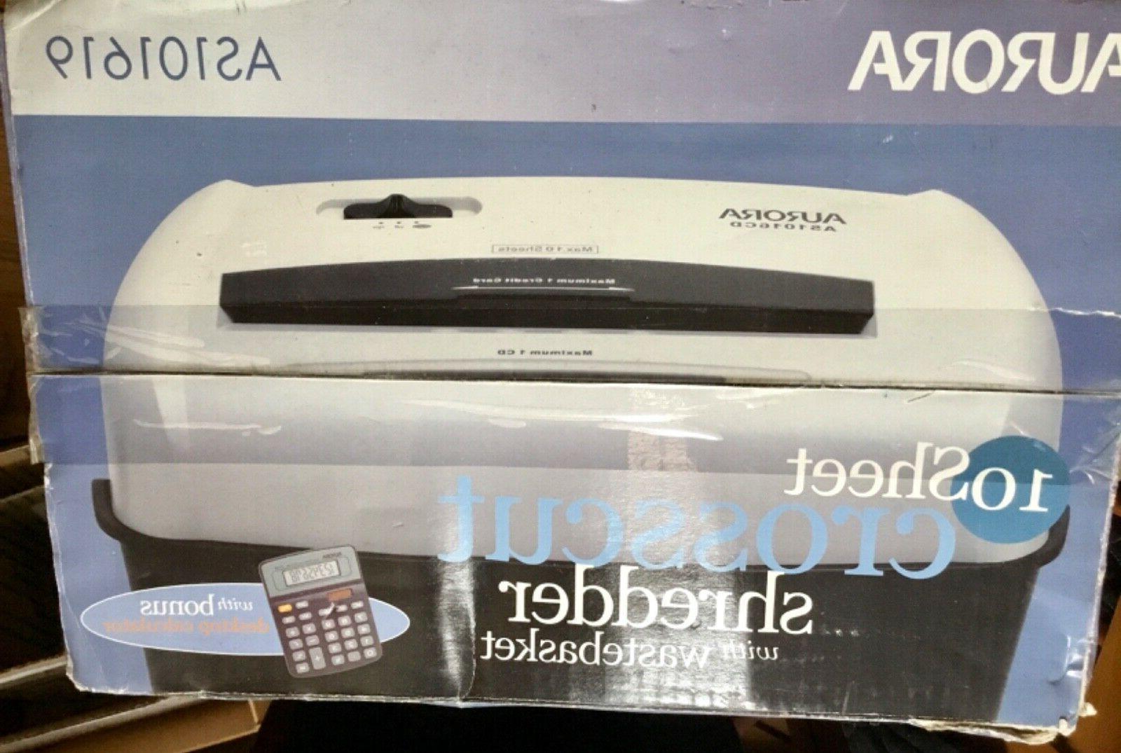 Aurora AS101619 Office Paper Shredder - Black & White