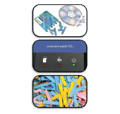 Aurora 10-Sheet Paper/Credit Card/CD Shredder with Basket