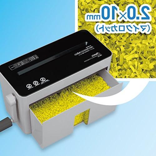 Asuka asmix shredder HM02GR 10 micro-shredding shredded