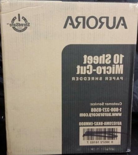 au1020ma high security 10 sheet micro cut
