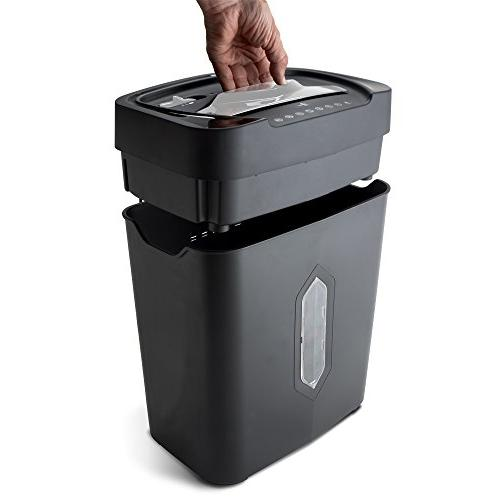 Aurora AU1230XA Crosscut Credit Card Shredder with Wastebasket