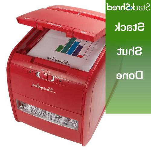 Swingline Shredder, Feed, 60 Sheet Capacity, Cross-Cut, 1 Stack-and-Shred