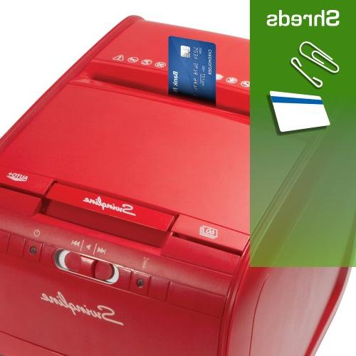 Swingline Feed, 60 Capacity, Cross-Cut, 1 Stack-and-Shred Red