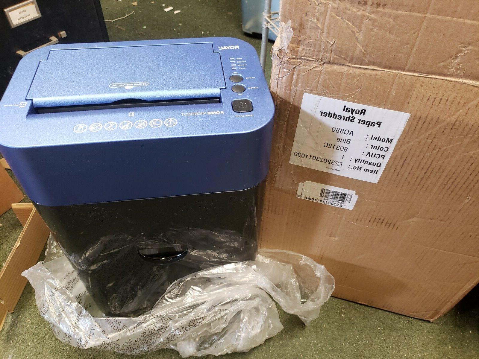 blue 8 sheet micro cut paper shredder