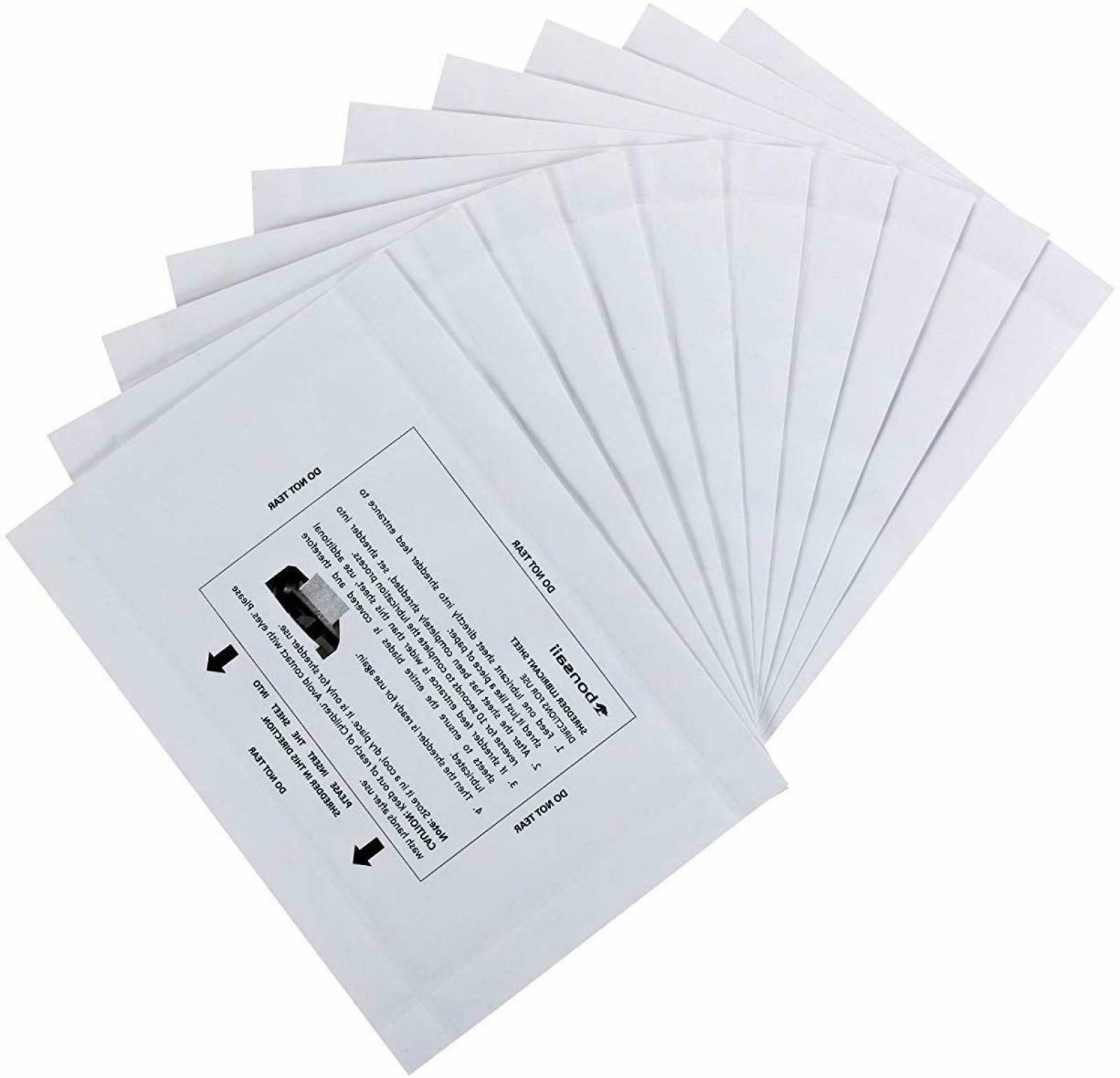 Bonsaii 15-Pack Paper Shredder Sharpening Lubricant Sheets f