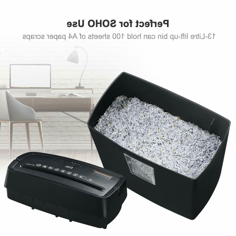 Bonsaii 6-Sheet Cross-Cut Shredder, P4 3.5 Gallons Capacity