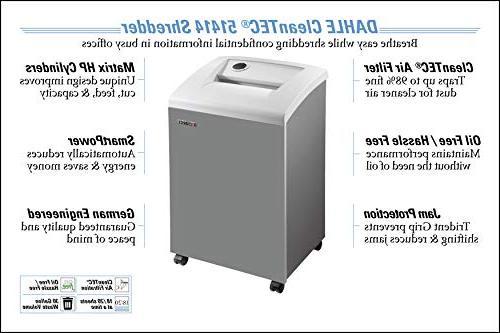 DAHLE CleanTEC 51414 Paper Shredder Filter, Jam SmartPower, Sheet 3-5 Users