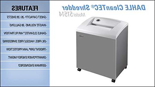 DAHLE Paper Dust Filter, Jam SmartPower, Security Sheet 5+ Users