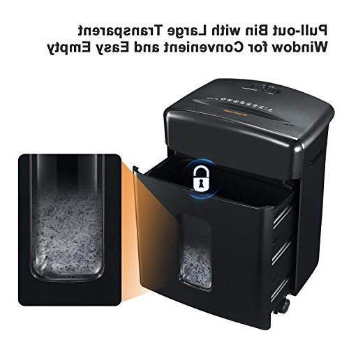Bonsaii 12-Sheet Cross-Cut Paper, CD/DVD, Credit Shredder Basket,