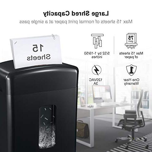 Bonsaii 15-Sheet Paper/CD/Credit Card with Gallon Pullout Basket and 4 Running Black(C221-A)