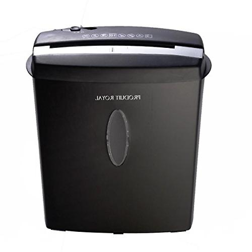 Produit Royal Cross-Cut Paper Credit Card CD Shredder Black | Duty Gallons Noise Fireproof Protection Durable for Use Office