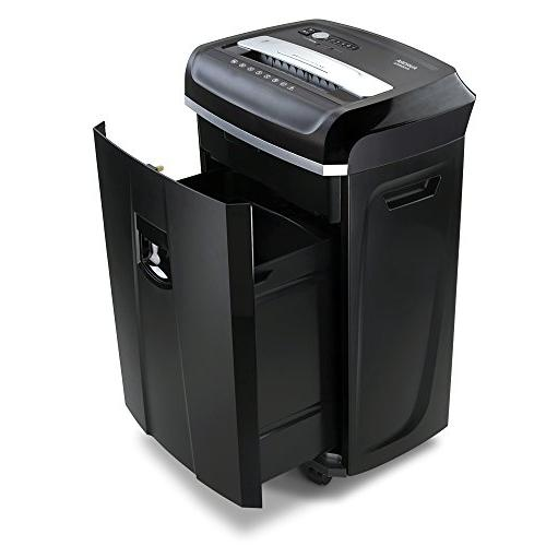 Aurora Professional 20-Sheet Crosscut Paper/Credit with 60 Minutes Run Time and Pullout Basket, AntiJam Shredder