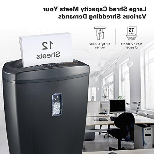 Bonsaii DocShred C156-D Cross-Cut with 5.5 Wastebasket Capacity and