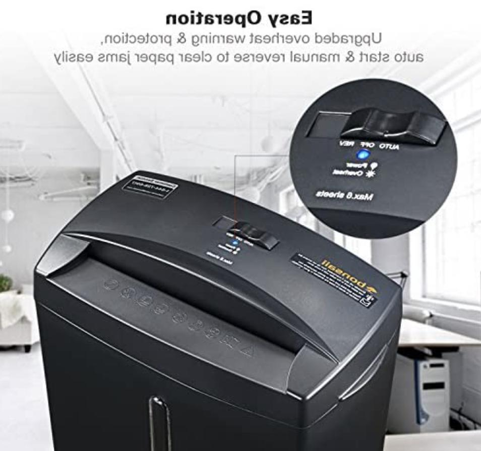 Bonsaii C560-D 6-Sheet Security Micro-Cut 6-Sheet Shredder