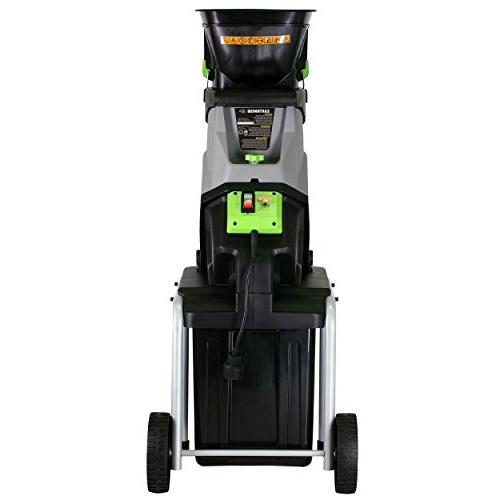 Earthwise GS70015 15 Amp Electric Garden Chipper/Shredder with Collect, Bin