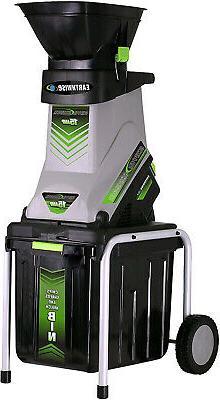 Electric Garden Wood Chipper Shredder Mulcher 15-Amp With Co