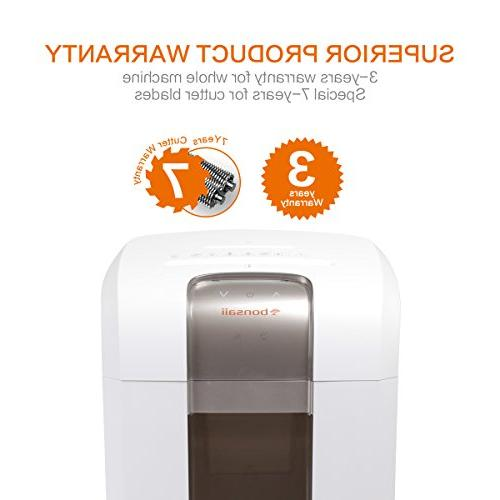 Bonsaii Heavy duty Paper/CD/Credit Shredder, Minutes Time, dB 7.9 Pullout with 4