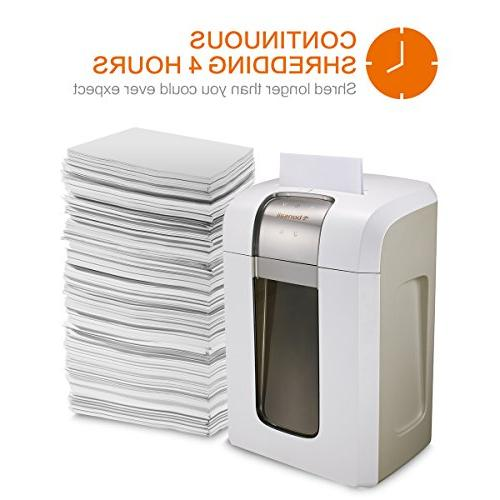 Bonsaii Paper Shredder, Super Micro cut 7.9 Gallons Wasterbasket, 240 Minutes Continuous White