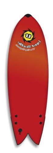 Liquid Shredder Fish Softsurfboard, Red, 6-Feet 4-Inch