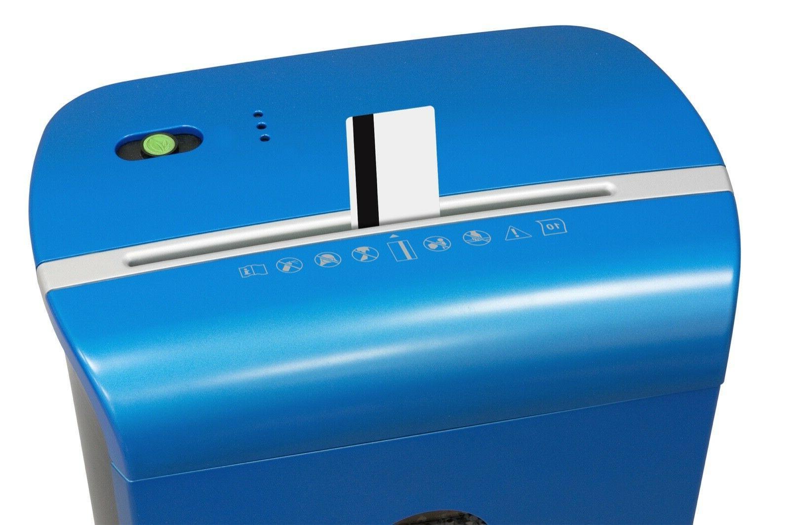 GoECOlife GMW104P-BLE 10 Microcut Shredder, Ultra Quiet, Metallic Blue