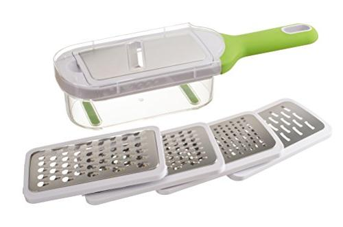 KUKPO Grater and Container - Blades Cheese To Use Nonslip Bottom