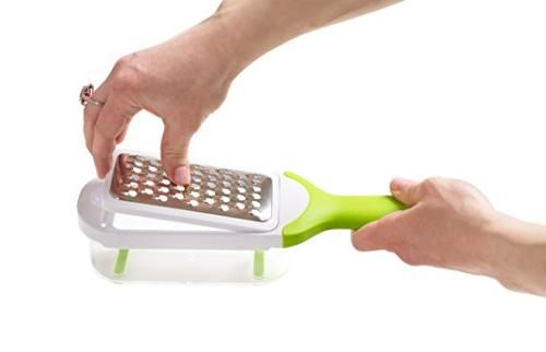 KUKPO Grater Food Set Container - 5 Interchangeable Blades Ideal Cheese - - Fruit To Use
