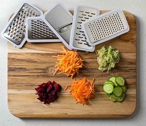 KUKPO Grater Slicer: Food Blades – Ideal Fruit - Nonslip And