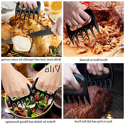 2 Pcs Claws - Lift, Shred, and BBQ Experts' Tool - Heat-resistant 500 With Ultra-Sharp 100% Food-Safe -