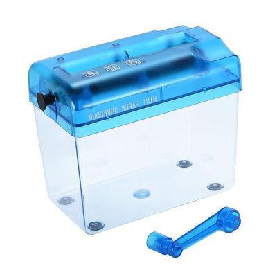 Mini Desktop Manual Paper Shredder Papers Cutting Office Portable