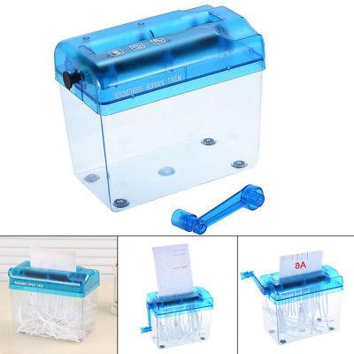 Mini Desktop Shredder Hand Papers Office Portable