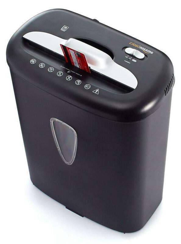 Paper Credit Card Shredder 8-Sheet Cross-Cut for Office/Home