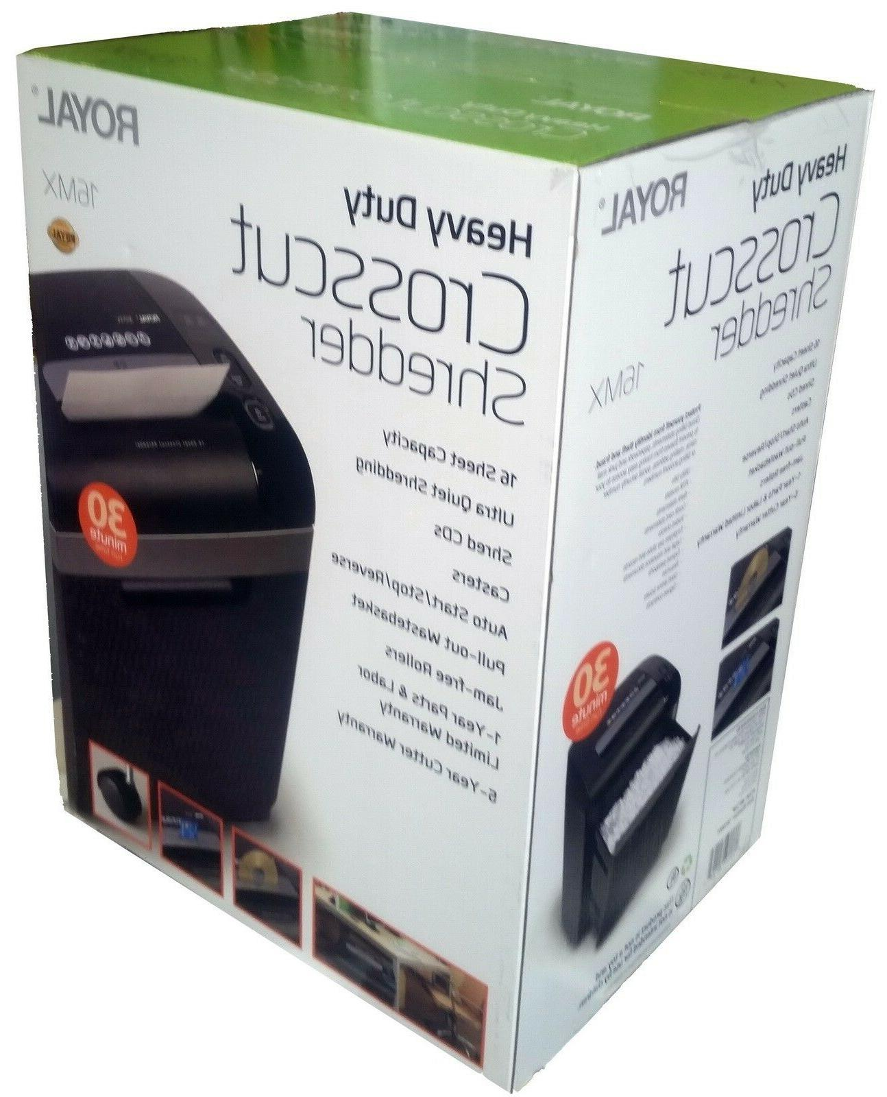 New 16 Sheet Paper Shredder 7.4 Gallon Crosscut