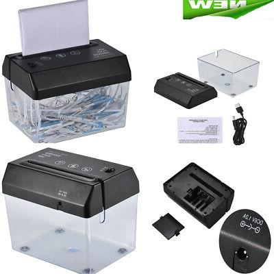 portable usb electric paper shredder home office