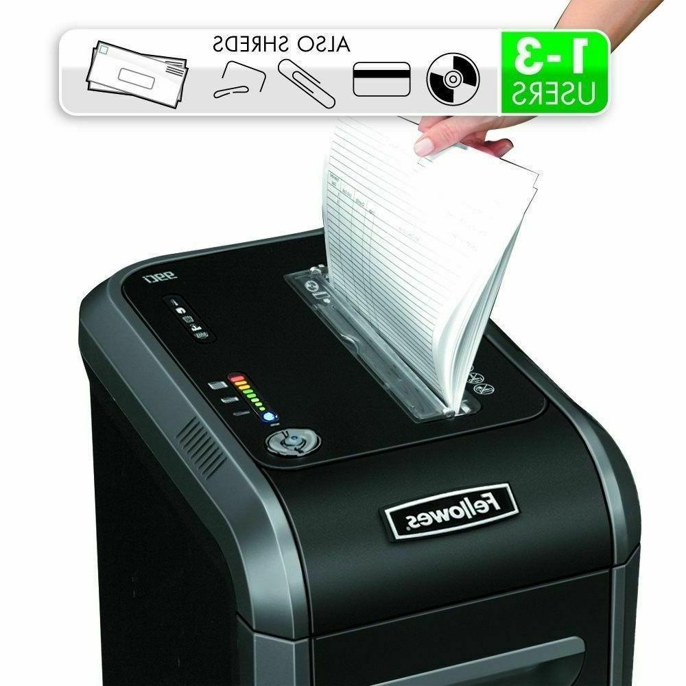 Paper Shredder Machine Black Heavy Duty Big for Office Home