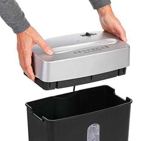 Dahle Shredder, Oil Free/Hassle Security Sheet Staples, Paper Clips Cards