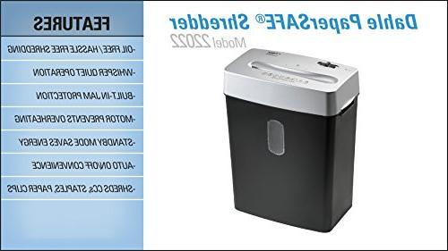 Dahle PaperSAFE 22022 Shredder, Oil Free/Hassle Security P-4, 7 Sheet Shreds Staples, Paper Clips & Credit Cards