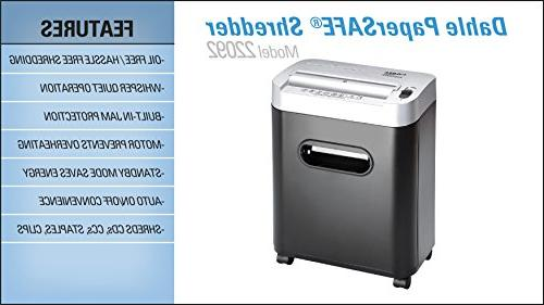 Dahle Shredder, Free/Hassle Security Sheet Shreds CDs, Credit Cards Clips