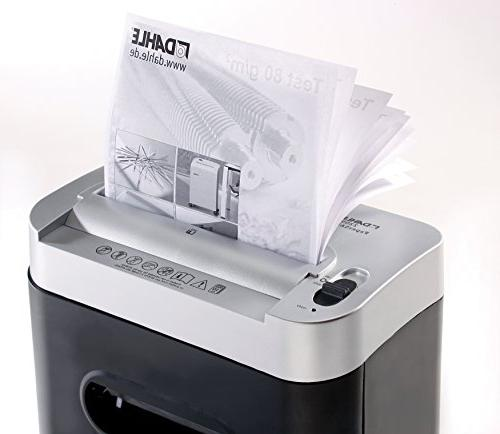 Dahle PaperSAFE Shredder, Oil Free/Hassle Security Level Sheet Shreds Credit Clips