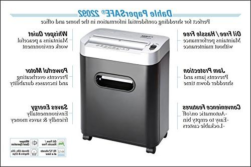 Dahle PaperSAFE Shredder, Oil Free/Hassle Free, Security P-4, Credit Clips