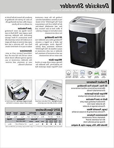 Dahle Shredder, Security Level P-4, Sheet Max, CDs, Credit Paper Clips