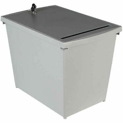 personal document container 9 gallon capacity gray