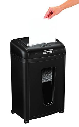 Fellowes Powershred 9-Sheet Card with Auto Reverse